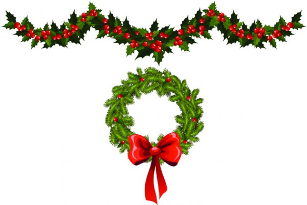 Holley clipart christmas wreath At Do a Garland Use