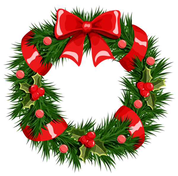 Wreath clipart transparent background Christmas Search Google ~