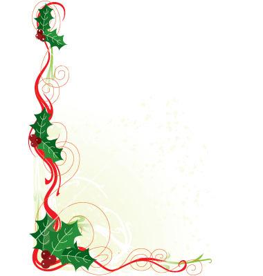 Holydays clipart corner Christmas art borders free borders
