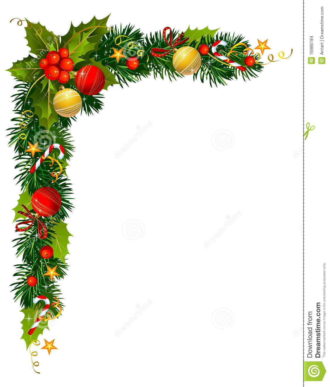 Holley clipart corner border Greenery Christmas Holly collection cliparts