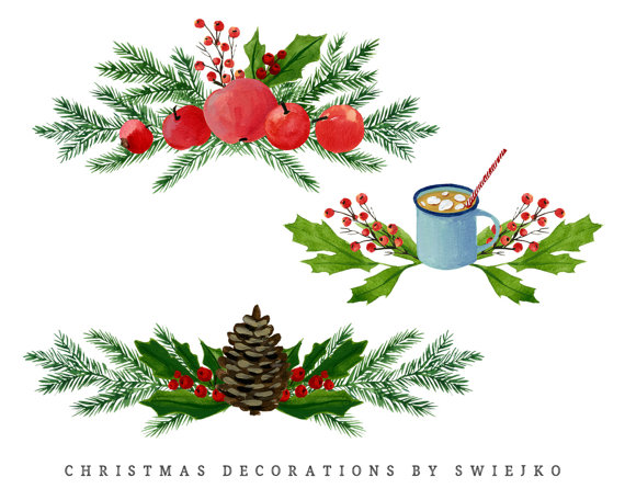 Holley clipart divider A  decoration is Holiday