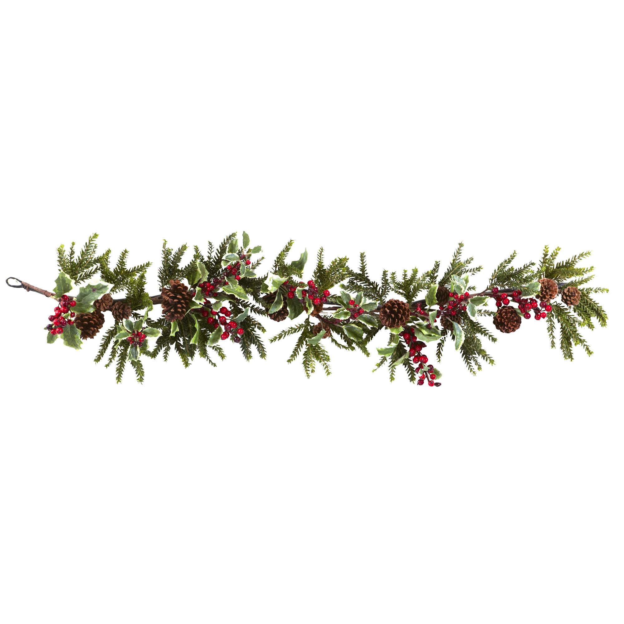 Wreath clipart evergreen garland Garland Holly Cliparts free Cliparts