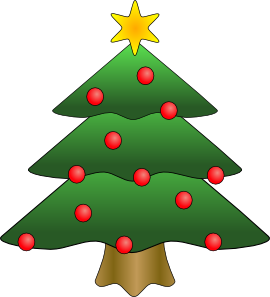 Christmas Tree clipart clear background Festive Clip Christmas Images &