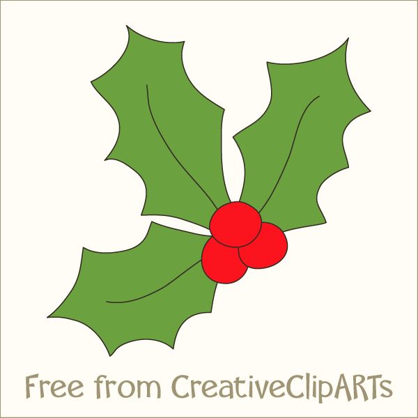Holley clipart festive Christmas Free  Traditional Clip