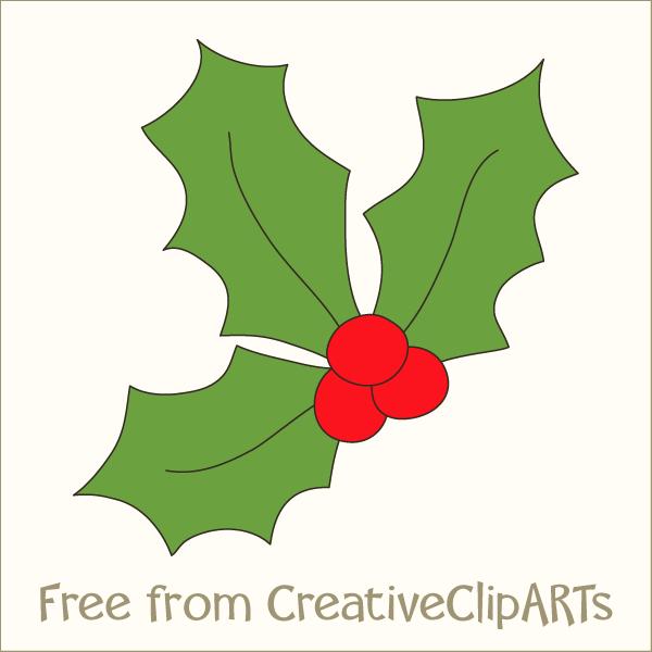 Holley clipart festive Christmas Free Clip Art Holly