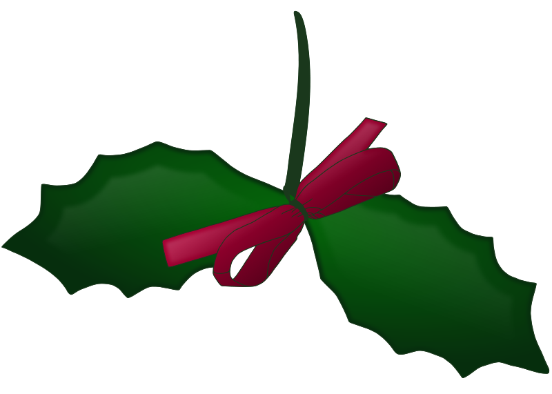 Holley clipart festive With Christmas Holly bow and