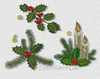 Holley clipart festive Holly Christmas holly Etsy of