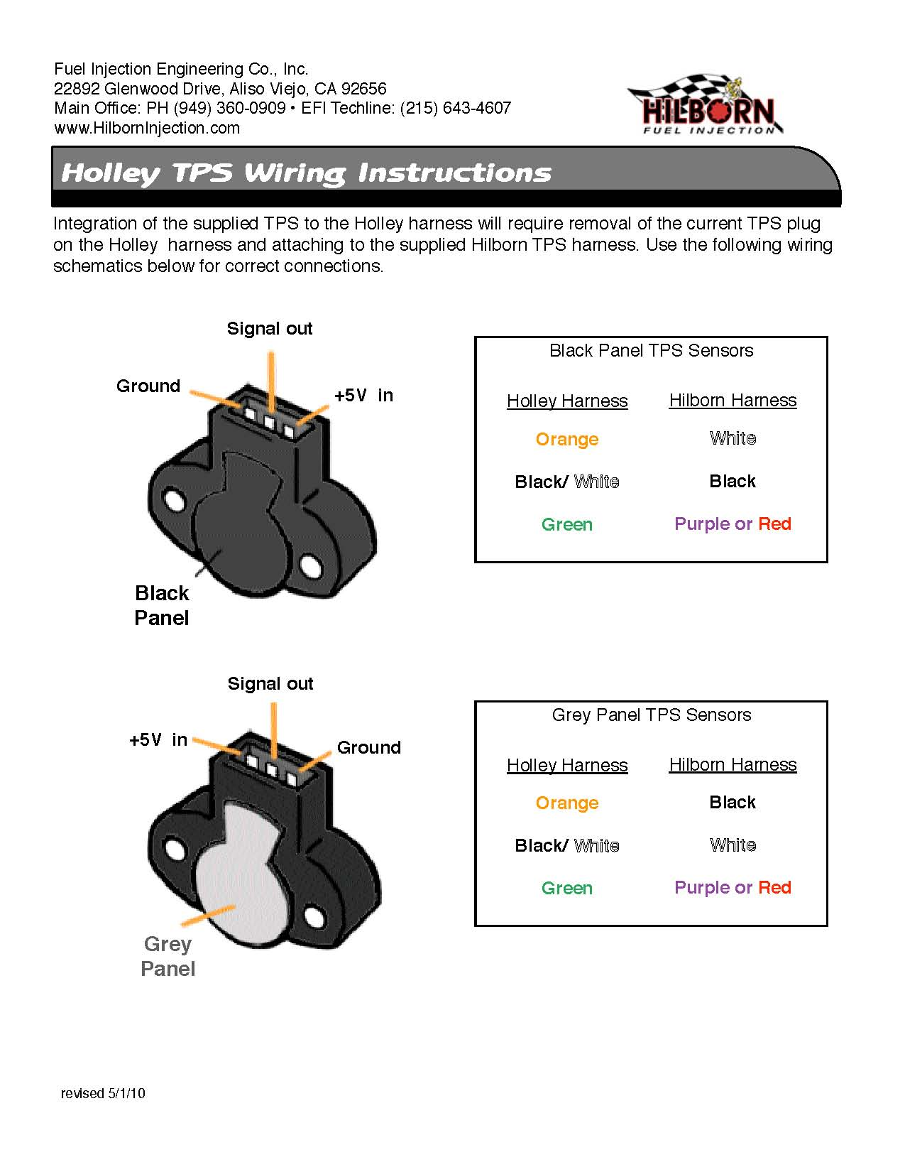 Holley clipart green Wiring schematic Holley Hilborn –