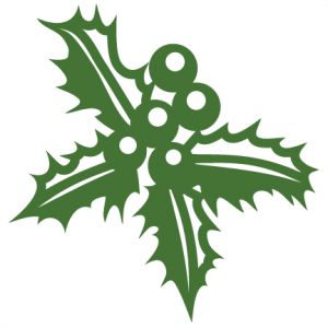 Holley clipart green Holly SVG Christmas Kate SVGs