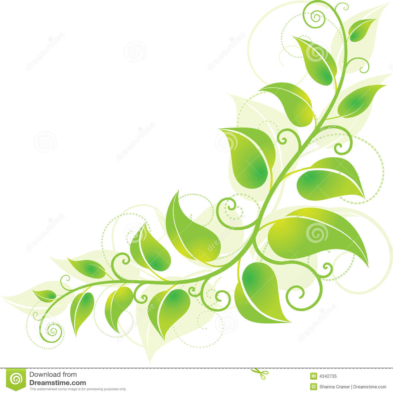 Holley clipart green Clip Clipart Leaves Leaves Vines