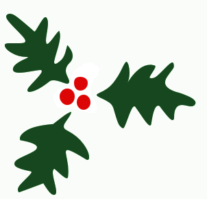 Leaves clipart xmas #5