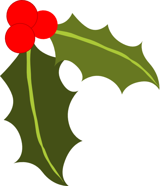 Leaves clipart xmas #10