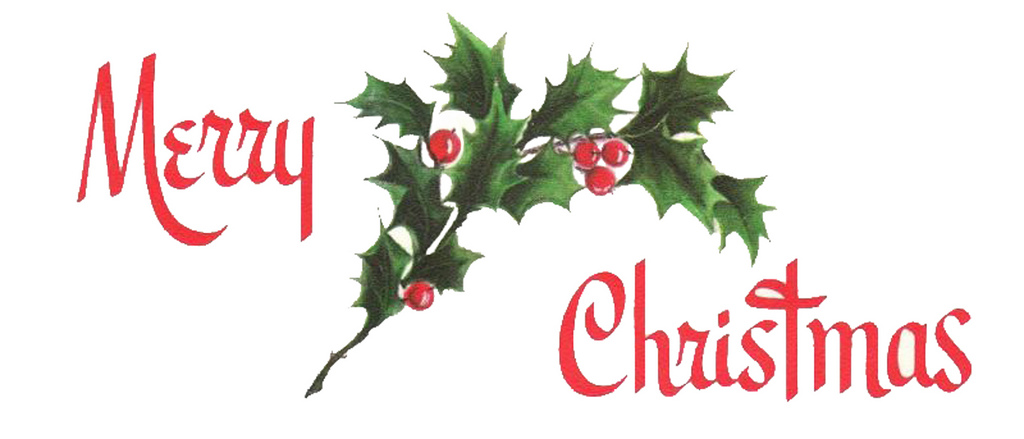 Holley clipart merry christmas  Image Merry Vintage The