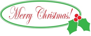 Holley clipart merry christmas Text Merry Free Clipart Merry