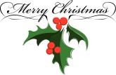 Holley clipart merry christmas The Merry Christmas  Christmas