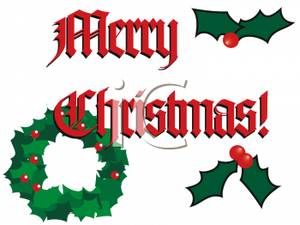 Holley clipart merry christmas Clipart Holly
