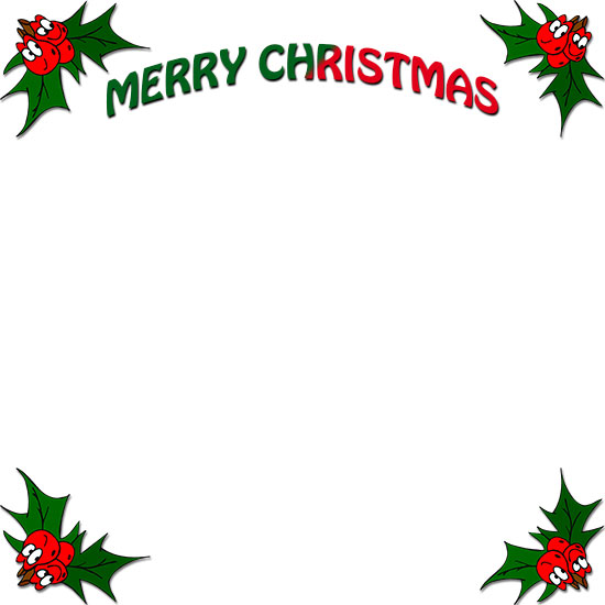 Holley clipart merry christmas Merry Free Christmas happy Christmas
