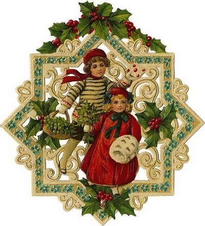 Holley clipart old fashioned Vintage clipart and graphics Christmas