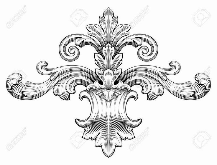 Holley clipart ornament Kanote Engraving best ArtVintage ArtBaroque