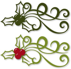 Holley clipart ornament KNK: Kersfees Silhouettes best met