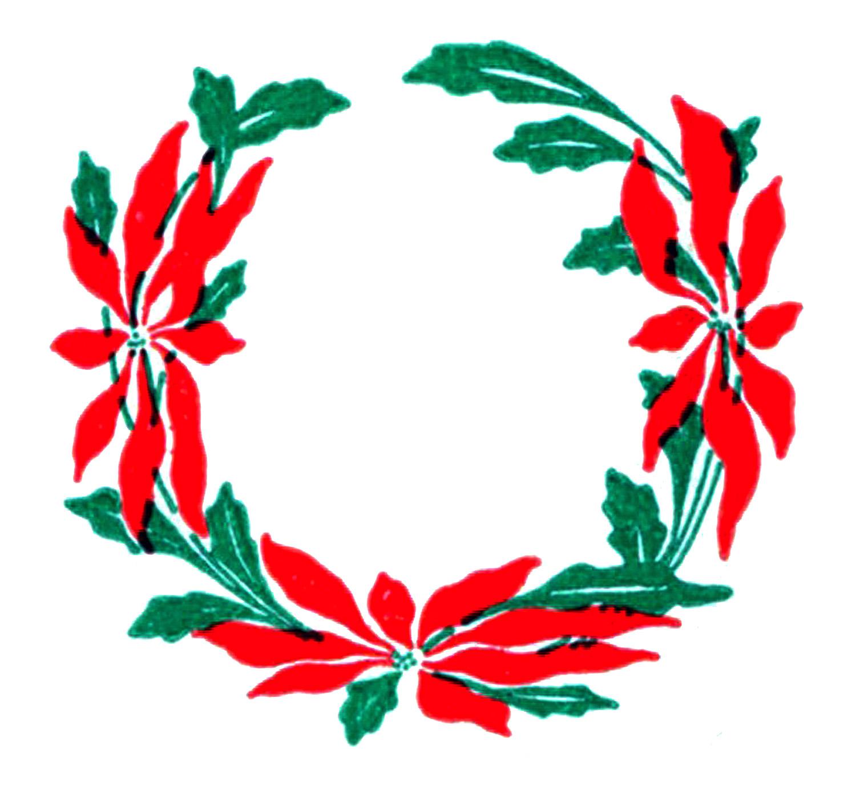 Wreath clipart graphic Fairy Clip Vintage – Christmas