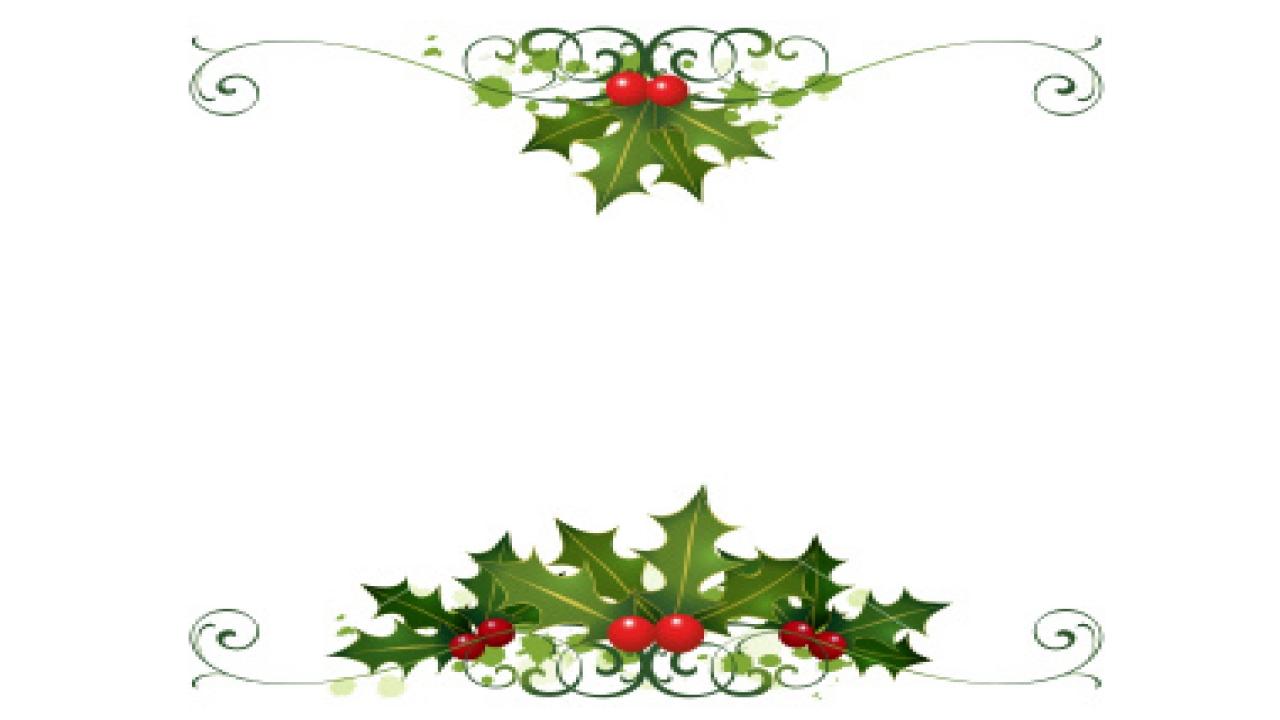 Desk clipart border Home Holly Art Holly Christmas