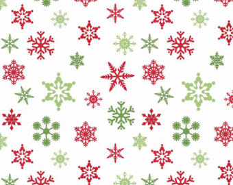 Holley clipart red green snowflake Fabric Red Fabric Snowflakes Blake