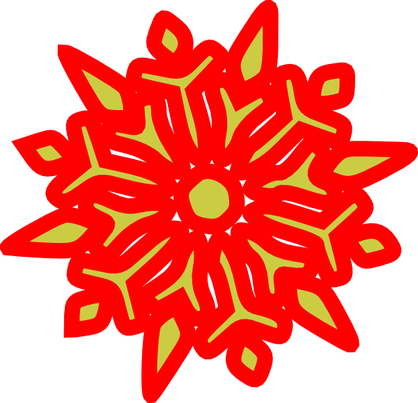 Holley clipart red green snowflake Royalty & com Clker Clip