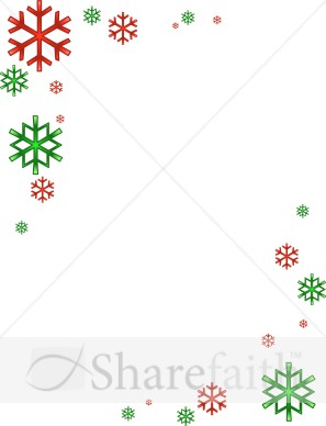 Holley clipart red green snowflake Corners Snowflake Images Snowflake
