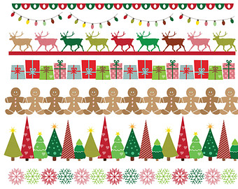 Holley clipart red green snowflake Small Reindeers Snowflake art Christmas