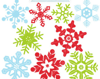 Holley clipart red green snowflake Clipart Christmas Clipart Commercial Christmas