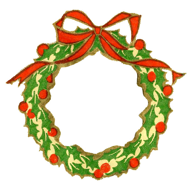 Wreath clipart graphic Clipart Free Holly christmas Clipart