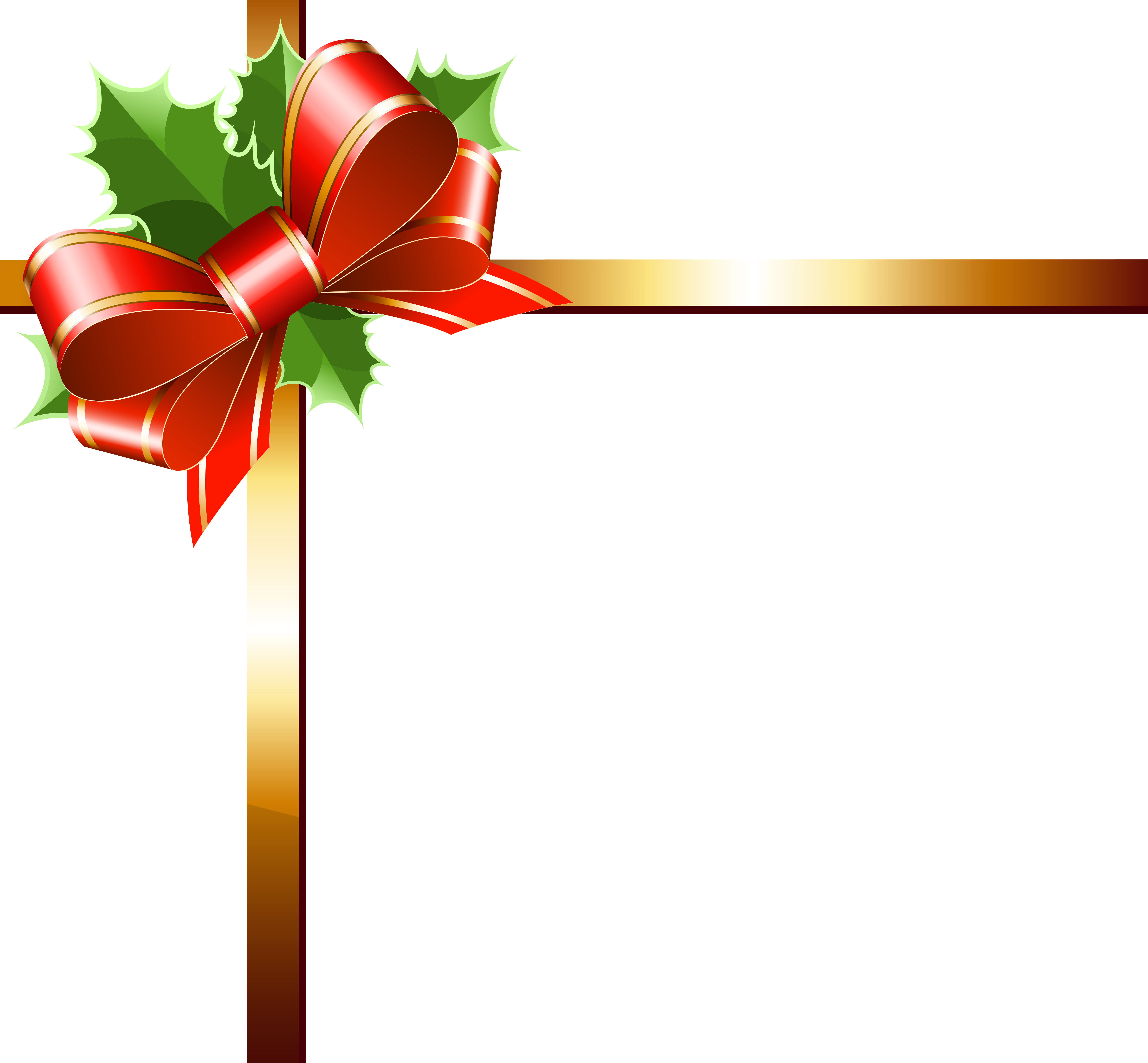 Holley clipart ribbon Christmas Clipart Gallery Yopriceville Image