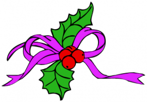 Holley clipart ribbon Purple Clip Download Art Holly