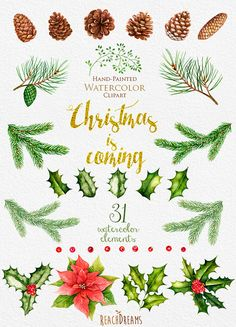 Holley clipart row Decoration Christmas classic Clipart ReachDreams