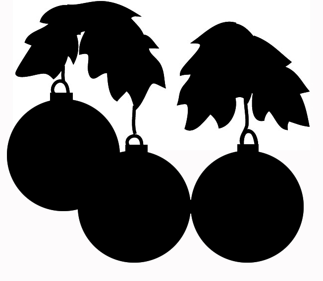 Holley clipart silhouette Silhouettes Christmas decorations Christmas silhouette