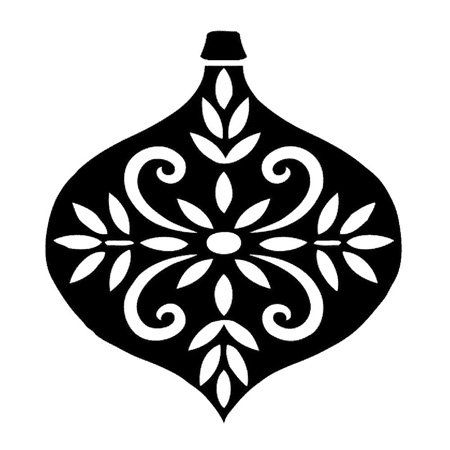 Holley clipart silhouette 16 Decorated Iron White Ornament
