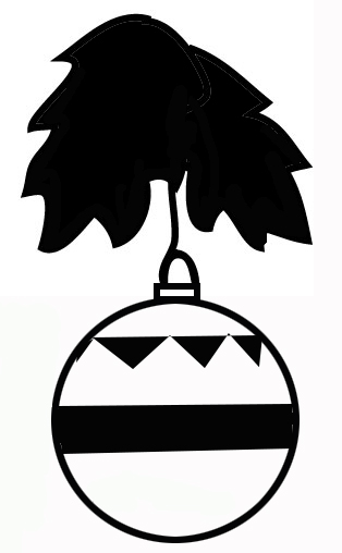 Holley clipart silhouette Tree Silhouettes christmas silhouette Christmas
