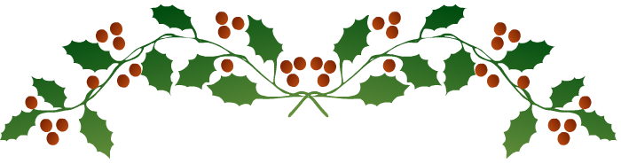 Holley clipart string Holly border Christmas holly (76+)