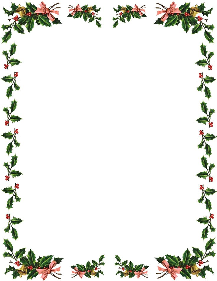 Holley clipart top border Free Holly Clipart Clipart Cliparts