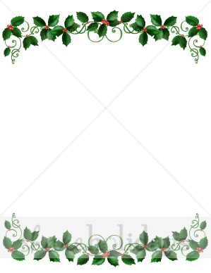 Holley clipart top border Holly Garland Border Border Borders