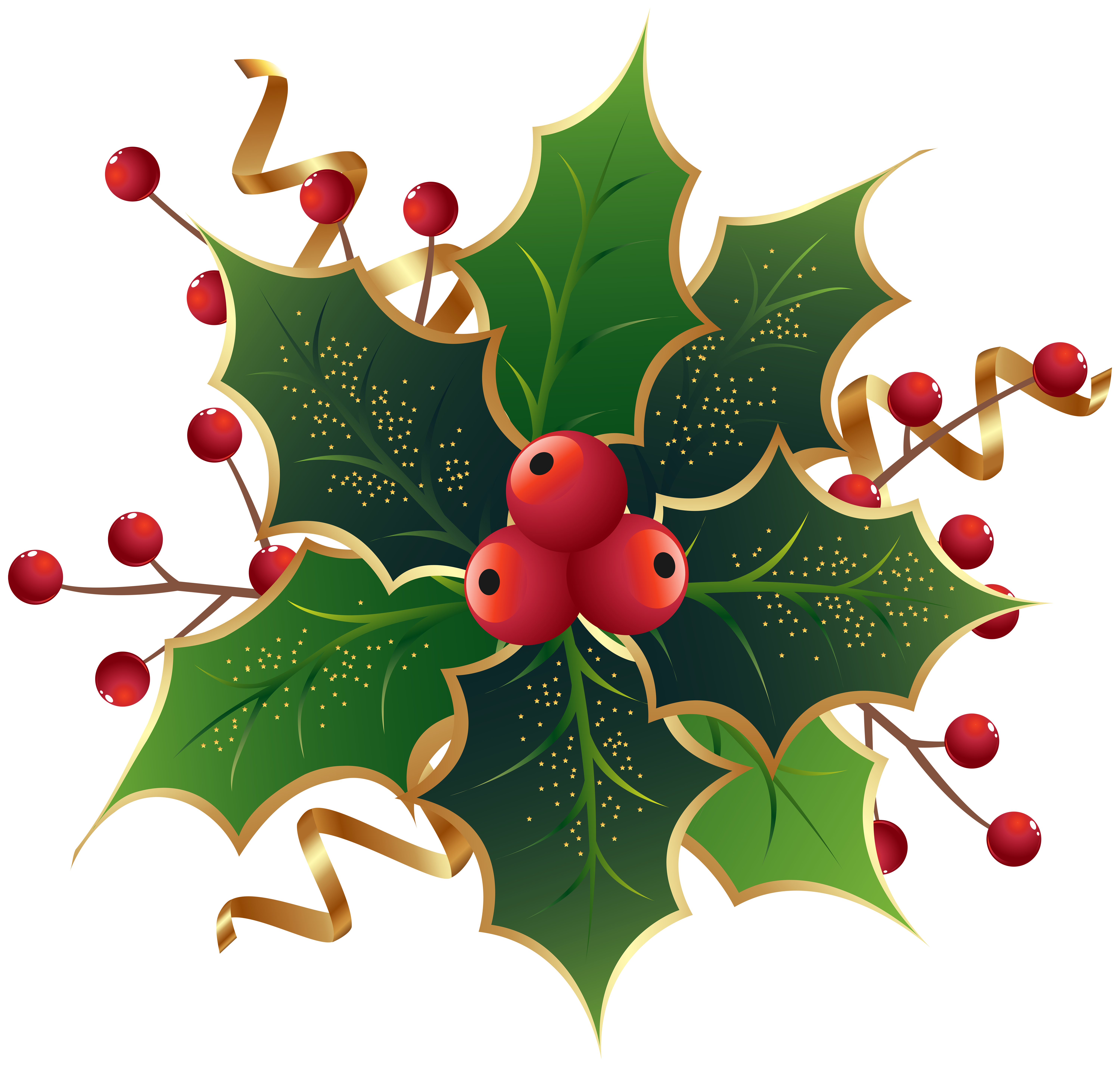 Holley clipart traditional christmas  full View Holly Christmas