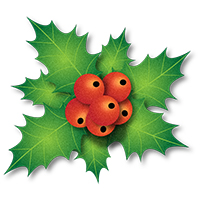 Holley clipart traditional christmas Info Clipart Clipart holly Images