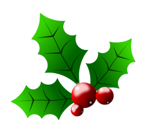 Holley clipart traditional christmas Christmas  holly3 clipart Walton