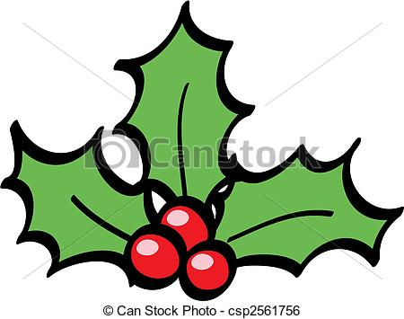 Holley clipart vector Vector isolated Holly illustration