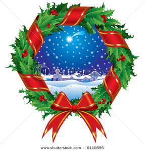 Holley clipart winter Scene Holly with a a