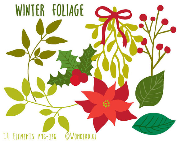 Holley clipart winter Christmas Mistletoe Clipart Clipart Winter