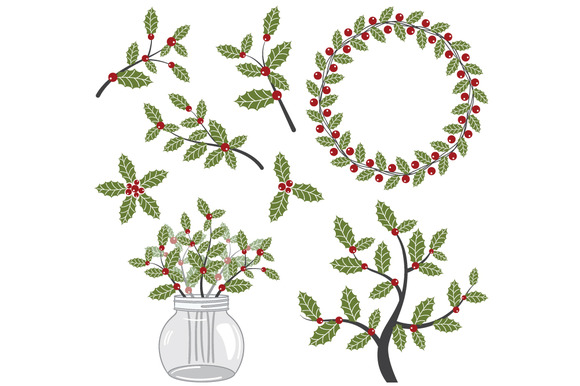 Holley clipart winter Download Art Winter Clip Berries