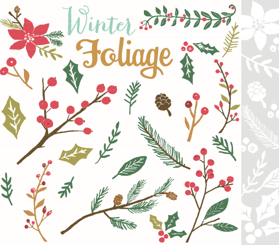 Holley clipart winter And personal Photoshop Brushes Foliage