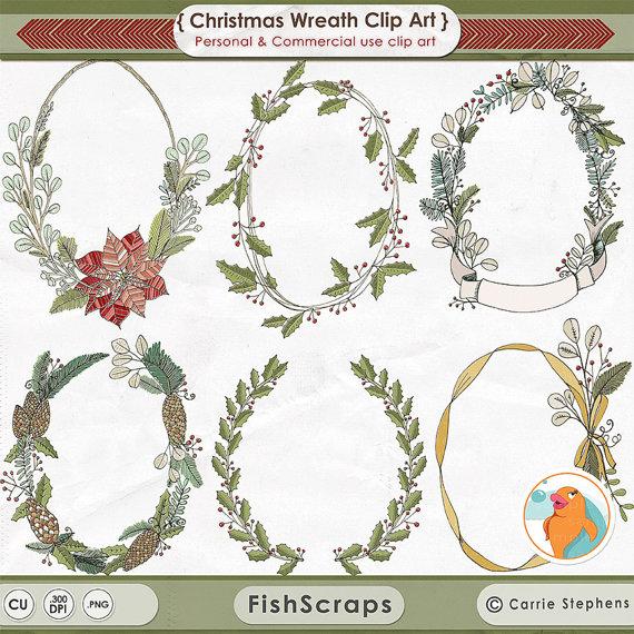 Poinsettia clipart printable Clip Graphics Drawn Wreaths Clip